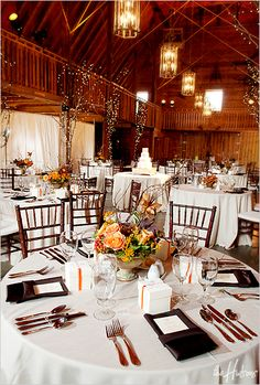 Love this color scheme for a barn wedding! - Photo by Kori