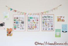 塗り絵、お絵描き、工作、折り紙、日々溜まっていく子供のアート作品。限られたスペースに「おしゃれ」に飾る方法と、超省スペースになる作品の保管方法をご紹介します! Kidsroom, Photo Wall, Gallery Wall, Frame, Interior, Home Decor, Bedroom Kids, Picture Frame, Photograph