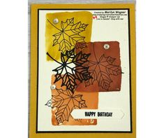 Stamping Creations With Marilyn - Page 5 of 372 - Creations with stamps, ink and paper. Birthday Cards, Happy Birthday, Embossing Folder, How To Apply, How To Make, Stamping, Card Stock, Card Making, About Me Blog