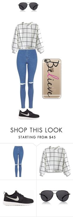 """""""Untitled #1"""" by ashleighfarrugia ❤ liked on Polyvore featuring Topshop, Chicwish, NIKE, The Row and Casetify"""