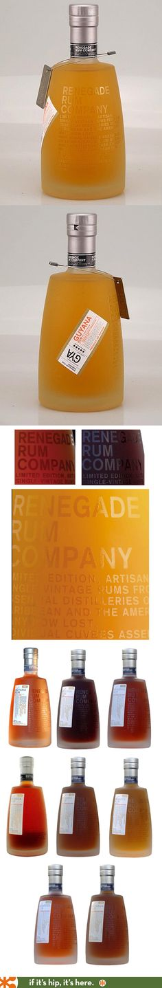 Renegade Rum Company artisanal limited edition single vintage rums