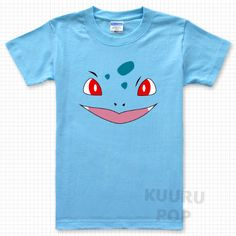 19230f07 Pokemon Bulbasaur T-shirt Choose a grass starter with this blue Pokemon  shirt, which