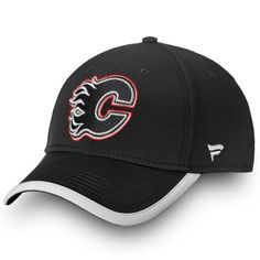 62a65286a2935 Men s Calgary Flames Fanatics Branded Black Authentic Pro Clutch Speed -  Flex Hat