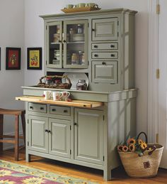 300 best kitchen decor hutches buffets images painted furniture rh pinterest com Kitchen Hutch Furniture Kitchen Buffet Cabinet