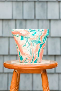 Your place to buy and sell all things handmade Painted Plant Pots, Painted Cups, Cute Crafts, Crafts To Do, Hydro Dipping Patterns, Hydrodipping Diy, Hydro Painting, Diy Hydro Dipping, Outdoor Paint Colors