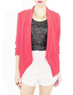 Orchid Relaxed Blazer. hot pink!