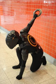Rinzler (TRON Legacy) cosplay. I didn't like the new movie but this is awesome anyway.