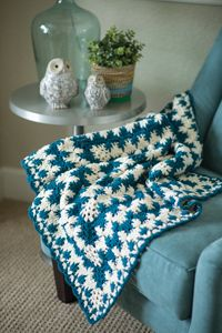 Grow With Me Baby Blanket - A unique #blanket with fun puff stitches from Love of #Crochet magazine