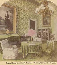 Green Room White House 1880's