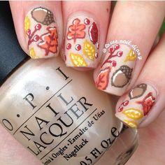 #repost @brees.nails.diary  Leaves and leaves are falling down!  #fallnails  #nailart #naildesign #nailswag #nailpolish #design #nailstagram #beauty #creative #nails #cute #nailporn #nailsoftheday #nailsofinstagram #nailgasm #nailglam #nailfashion #ignails #instagramnails #nailcandy #nailartaddict #nailsonfleek #nailpolishaddict #nailpromote #nailitdaily #girlynailsdeluxe