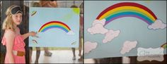 Game ideas: We made a 'pin the cloud on the rainbow', played pass the parcel, had a treasure hunt for whoever could find the most rainbows (Miss 9 drew them and placed them around the yard) and played lots of musical statues