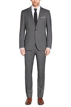 'Huge/Genius'   Slim Fit, Super 120 Italian Virgin Wool Suit