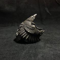 Raven Ring, Silver ring / handmade silver ring / 925 Sterling Silver Raven Ring 925 Sterling Silver Ring Raven by BroncoManor on Etsy Rabe, Gothic Accessories, Animal Jewelry, Schmuck Design, Handmade Silver, Gothic Steampunk, Sterling Silver Jewelry, Rings For Men, Jewelry Design