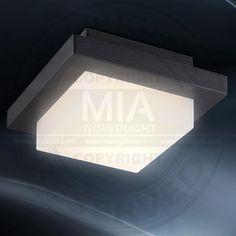 MIA  Decken Leuchte AUSSEN Ø140mm/ LED/ Schwarz/ Alu/ Lampe 3