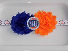 MLB Detroit Tigers royal blue and orange by momsbowtiqueprincess