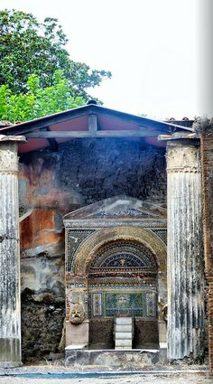 Pompeii... so word that a whole society really lived hear, then died all at once in the volcano