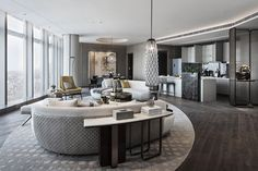 View full picture gallery of Super Villa—President Mansion In The Air Wuhan, Hotel Room Design, Mansion Interior, Public Seating, Hotel Suites, Modern Buildings, Lounge Areas, Studio Apartment, Amazing Architecture
