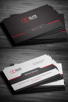 Simple and Clean Business Card #businesscards #corporatedesign #businesscarddesign #psdtemplates