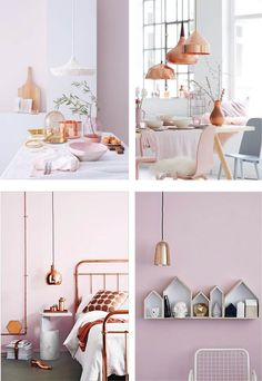 Loving the combination of dusty pink and copper at the moment! I am loving...