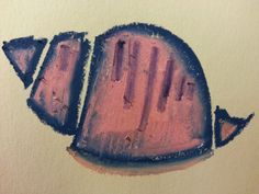 Oil Pastel – Shell Study 2   The Walking Gallery