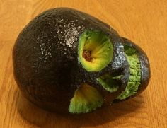 The perfect addition to any bowl of guacamole (haunted or not): a skull avocado! Pumpkin Masters Carving Tools are excellent for creating the face just the way you want it: http://www.pumpkinmasters.com/pumpkin-carving-kits.asp. Idea via One Man's Blog.