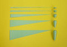 Shape 3 corrugated paper beads