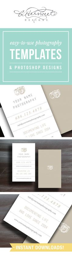 Photographer Business Card Design Template  by designbybittersweet #photography