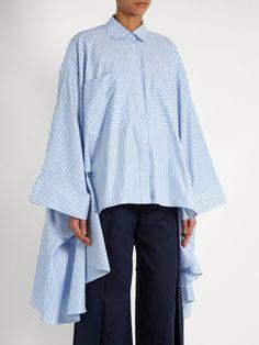 Palmer//harding Poet patch-pocket cotton shirt Blouse Styles, Blouse Designs, Demin Dress, Poet Shirt, Palmer Harding, Fashion Silhouette, Fashion Tips For Girls, 20th Century Fashion, Black Girl Fashion