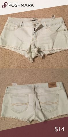 Abercrombie and Fitch jean shorts Never worn! Light wash, super cute. Short Jean shorts. Moving abroad so trying to sell tons of stuff at good prices! Look through my closet and make an offer :-) Abercrombie & Fitch Shorts Jean Shorts