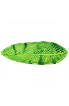 Long Tropical Leaf Tray - Luau Tropical Party Decoration Ideas