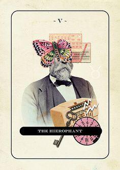 V - The Hierophant ~ theartofjordan tarot deck Zodiac Elements, The Hierophant, Vladimir Kush, Tarot Major Arcana, Creative Jobs, Tarot Card Meanings, Creative Portfolio, Oracle Cards, Tarot Reading