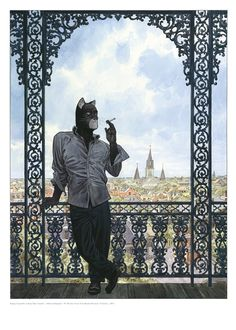 Blacksad by Juanjo Guarnido  (http://bd.amiens.com/boutique/fiche_produit_52.html) ★ || CHARACTER DESIGN REFERENCES | マンガの描き方 • Find more artworks at https://www.facebook.com/CharacterDesignReferences  http://www.pinterest.com/characterdesigh and learn how to draw: #concept #art #animation #anime #comics || ★