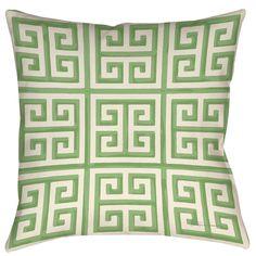 TWO 16 X 16  $35.22 Thumbprintz Greek Key 2 Printed Pillow