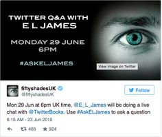 Why the E. L. James Twitter Chat Went Horribly Wrong Spin Sucks