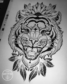 Vamos fugir um pouco dos leões e lobos ??? Kkkk . . Tigre disponível por valor baixo pra quem topar fazer . . Contato para orçamento e agendamento no no tel 27 999805879 com Bruno de segunda a sexta de 8 as 18 hs ! NÃO RESPONDEMOS DIRECT! . . #kadutattoo #tattoo#tattoos #tatuagem #tatuagens #tiger #tigre #sketch #rascunho #artdigital #dotwork #applepencil #apple #ipadpro #ipad