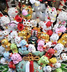 maneki neko's or lucky cats are my favorite. - Flickr