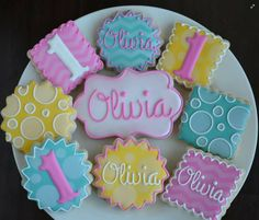Birthday cookies by Cookie Crush