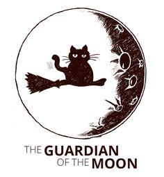 #moon #dark #art #watching #black_cat #rain_ant #illustration #procreate Guardian Of The Moon, Ant Art, Rain, Graphics, Illustration, Black, Rain Fall, Charts, Graphic Design