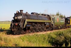 ex-CN 6060 4-8-2 Mountain Locomotive now Central Alberta Railway, Stettler, Alberta