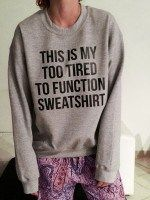 Trendy Loose Long Sleeve Letter Pattern Sweatshirt... £3.87