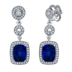 Diamonvita Couture® 6 1/2 ct. tw. Lab-Created Blue Sapphire #HelzbergDiamonds #AisleStyle #Entry