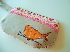 wristlet tangerine canary 2--cute bag