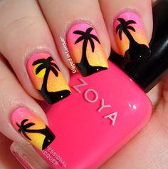 20 Sunset Nail Design Ideas