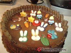 Tourta Periptero Birthday Cake, Pudding, Favorite Recipes, Candy, Sweet, Desserts, Christmas, Food, Gastronomia