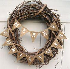 Happy Holidays. Gift card wreath as teacher gift