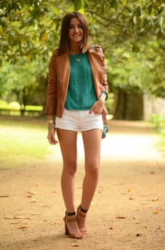 with my brown jacket and white shorts - Lovely Pepa by Alexandra