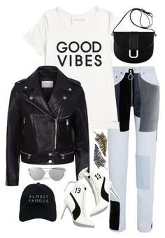 """""""Sin título #1140"""" by vivig5 on Polyvore featuring moda, Off-White, Tommy Hilfiger, Sandro, Puma, A.P.C., Paperself y Nasaseasons"""
