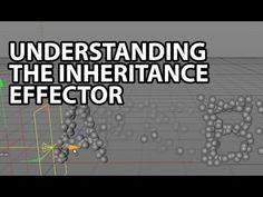 Cinema4D Tutorial: Understanding the Inheritance Effector (Beginner)