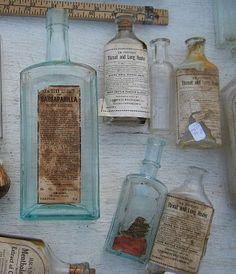 *Treasures...vintage bottles