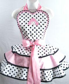 dotty apron from sjcnace4 on etsy